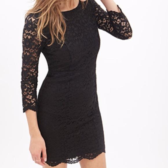 Divided Dresses   Skirts - H M  Black  Lace Bodycon Dress 4e2b6da87